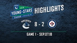Vancouver Canucks vs Winnipeg Jets - Young Stars Highlights (Sept. 07, 2018)