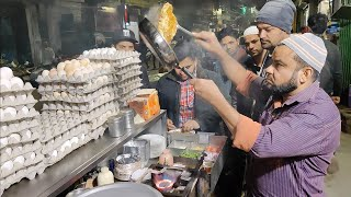 India's Fastest Omelet Making   Bread Cheese Omelette   Indian Street Food