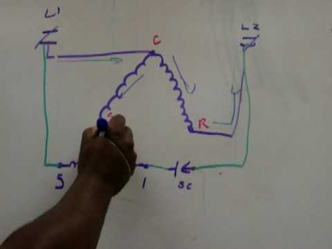 3 phase air conditioner wiring diagram potential relay youtube  potential relay youtube