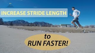HOW TO INCREASE STRIDE LENGTH FOR SPEED! FASTER RUNNING TECHNIQUE EXERCISES