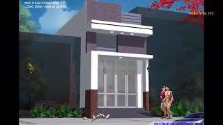 Thiết Kế Nhà Ống Cấp 4 Gác Lửng (70 m2) 2 Phòng Ngủ (2D)