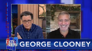 """George Clooney Takes """"The Colbert Questionert"""""""