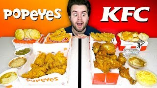 KFC vs. Popeyes - Fast Food Restaurant Taste Test!