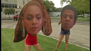 Fans getting ready for Ohio Stadium Beyonce and Jay-Z concert