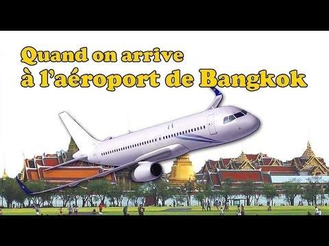 quand on arrive à l'aéroport suvanabhumi de bangkok