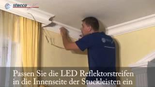 Stuckleisten Fur Indirekte Beleuchtung Indirekte Beleuchtung Led Reflektrostreifen Montieren Youtube
