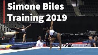 Simone Biles Training - 2019 U.S Gymnastics Championships