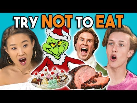 Try Not To Eat Challenge - Holiday Movies | Teens & College Kids Vs. Food
