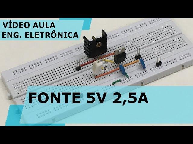MONTE UMA FONTE DE 5V 2,5A (Bem Fácil) | Vídeo Aula #229