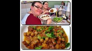 🍲Vlog Preparando o Almoço Grão de Bico com Linguiça Calabresa e Bacon com Déby & Ian👧👦
