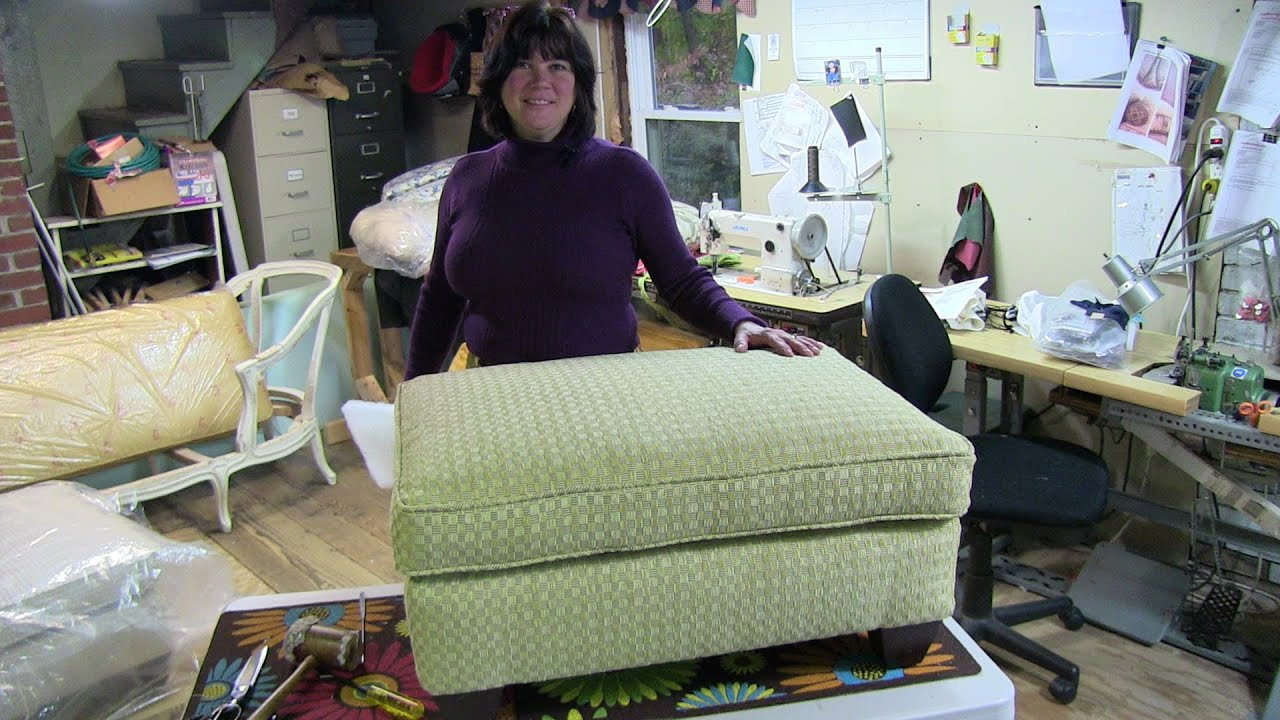 Upholstery Quot How To Reupholster A Pillowtop Ottoman Quot Youtube