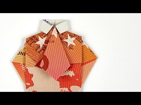 Geldscheine Falten Für Geldgeschenke Hemd Krawatte Videomovilescom