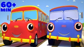 The Wheels On The Bus Go Round And Round Racing Version | Plus Many Other Popular Children Rhymes