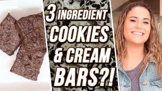 3 Ingredient Cookies & Cream Bars?! | 3 Items Or Less w/ Ayydubs