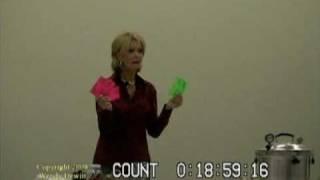 Wendy Dewitt -- Food Storage Seminar, Part 3 of 9.