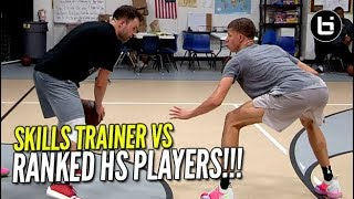 SKILLS TRAINER VS RANKED HIGH SCHOOL PLAYERS! 1v1 King of The Court