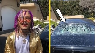 """Lil Pump Breaks Window On His Rolls Royce! """"THAT'S WHAT YOU DO WHEN YOU GOT MONEY"""""""