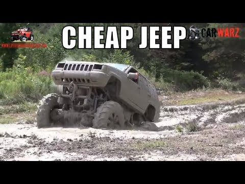 CHEAP JEEP Mega Truck In The Holes At Curt's Mud Bog 2018