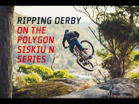 Shredding Derby on board Polygon's new Siskiu-N enduro series