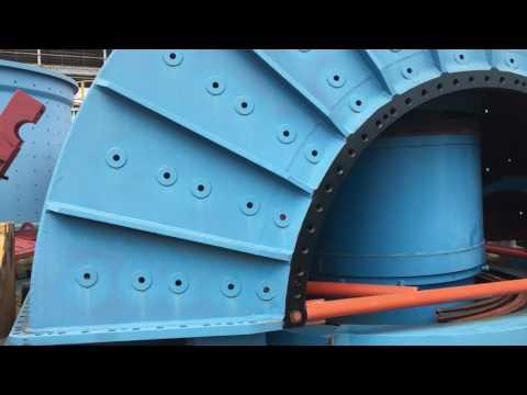 6K-03 3 Units - HARDINGE 22' x 7' SAG Mill Video October 4 2016