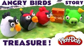 Play Doh Angry Birds vs King Pig For Treasure | Peppa Pig Frozen Mickey Mouse Clay Surprises