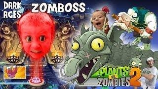 FGTEEV Chase vs. PVZ 2 Zomboss (DARK AGES FINAL BATTLE) + Lets Play Pinata Party w/ Dad