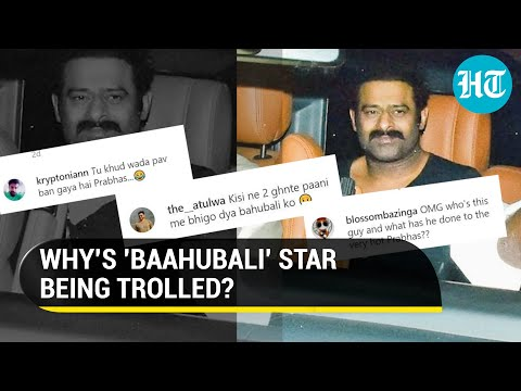 Actor Prabhas trolled on social media for gaining weight
