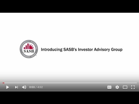 Introducing SASB's new Investor Advisory Group