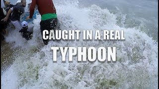 """CAUGHT IN A REAL TYPHOON """"DAMREY"""" in NHA TRANG Vietnam - LIVE FOOTAGE"""