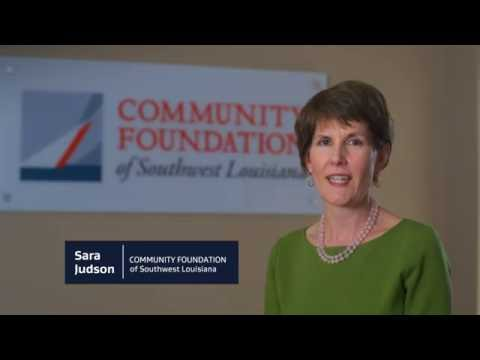 We're building...Community| o Sara Judson, President & CEO Community Foundation of SWLA