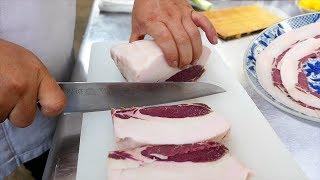 Japanese Food - WILD BOAR & EEL Kanazawa Seafood Japan