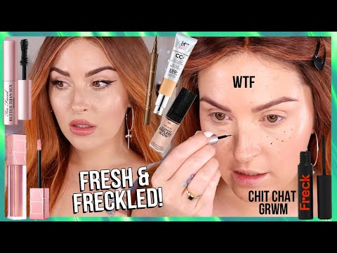 glowing natural *SPRING VIBES* skin ? playing with FRECKLES! full face ccgrwm!