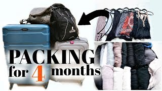 PACK WITH ME | Travel for 4 months | Ashlan Moore