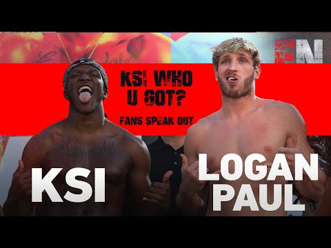 Logan Paul vs KSI WHO U GOT ? Fans speak out