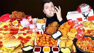McDonald's, KFC, Pizza Hut, Taco Bell, Wendy's, Popeyes, Burger King • MUKBANG