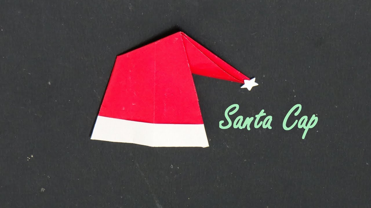 Christmas Origami Santa Claus - Easy origami - How to make an easy ... | 720x1280