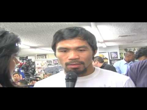 Manny Pacquiao V Marquez 4 Pre-Fight Interview