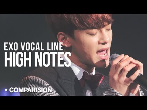 EXO - High Notes : Live Vs Studio (Comparision | Vocal Line)