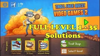 Troll Face Quest Video Games 2 All Levels 1 - 35 Walkthrough iOS / Android