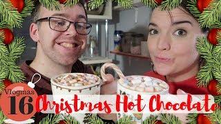 Homemade Christmas Hot Chocolate with our Hot Choc Bar! | Vlogmas day 16 | Krispysmore 2018