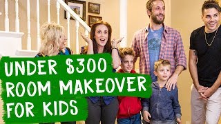 Under $300 Room Makeover for Kids!! | Mr. Kate Decorates