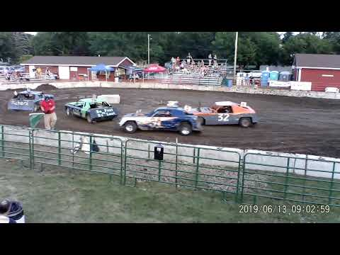 Manchester Community Fair 2019 Figure Eight Heat 2 (Big cars) (July 13,2019) Manchester,Michigan