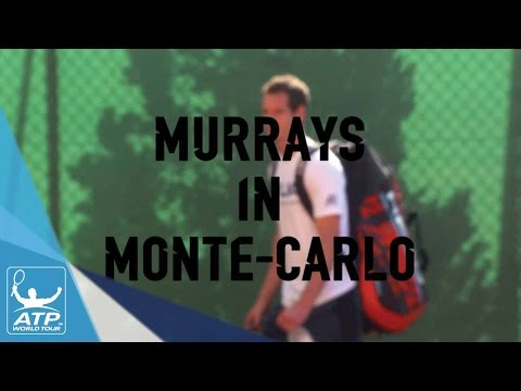 Andy And Jamie Murray Train At Monte-Carlo 2017