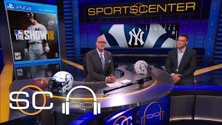 Aaron Judge reacts to being on the cover of Playstation 'MLB The Show 18' | SC with SVP | ESPN