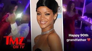 Rihanna Dances With Her Grandfather On His 90th Birthday | TMZ TV