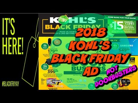 2018 KOHL'S BLACK FRIDAY AD | 🔥 DOORBUSTER DEALS | FULL AD!