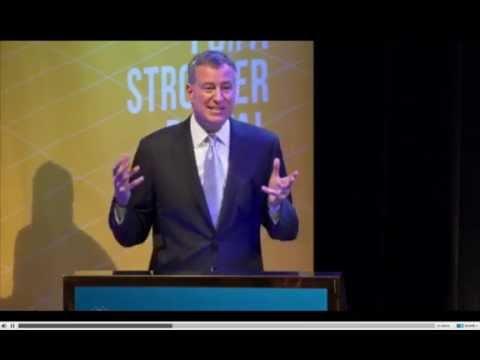 NYC Mayor Bill de Blasio Shares a Flatiron Alum's Story
