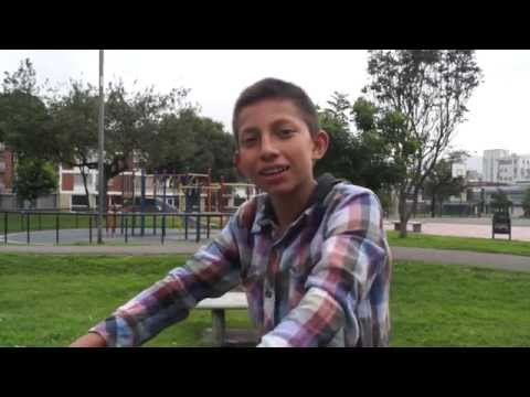 Colombian children answer question about their PA