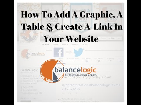 How To Add A Graphic, A Table & Create A  Link In Content Management System
