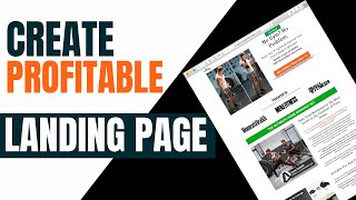 Create Money Making Landing Page (Step By Step)